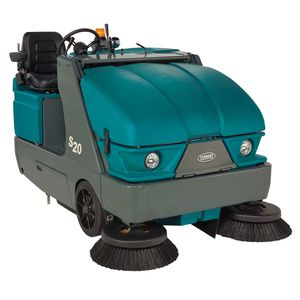 ride-on sweeper / battery-powered / diesel / compact