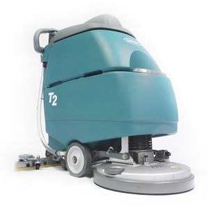 walk-behind scrubber-dryer / battery-powered / compact