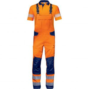 work brace overall / high-visibility / cotton / polyester