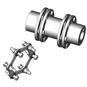 torsionally rigid coupling / disc / zero-backlash / flange