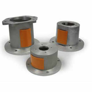 hydraulic fitting / flange / straight / aluminum alloy