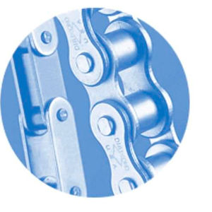 transmission chain / roller / double-pitch / for agricultural applications