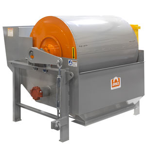 magnetic drum separator / liquid / for solids / wet