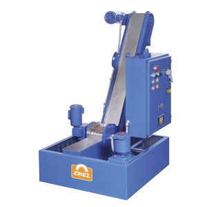 magnetic belt conveyor / for the recycling industry / chip / parts