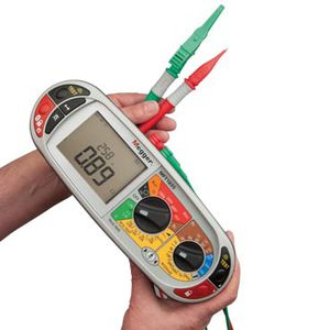 RCD tester / for electrical installations / for photovoltaïc installations / digital