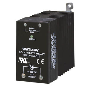 AC solid state relay / with heatsink / compact / DIN rail