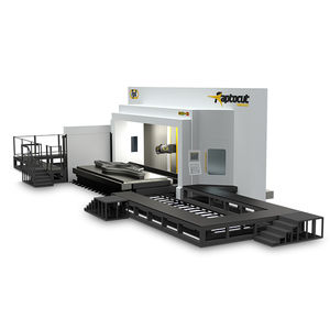 5-axis CNC milling machine / horizontal / traveling-column / for aluminum
