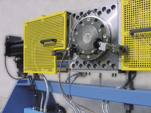 discontinuous screen changer / belt / hydraulic / automatic