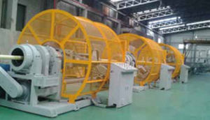 tube extrusion line / for PE / 3-layer / for composite pipes