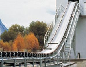 textile conveyor belt / oil-resistant / reinforced