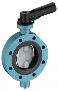 butterfly valve / lever / wafer / aluminum