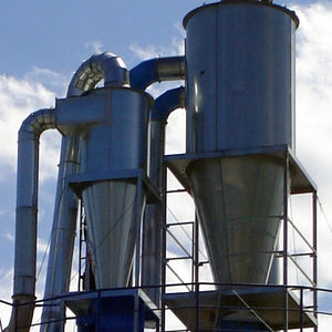 cyclone separator / chip / for the recycling industry / vertical