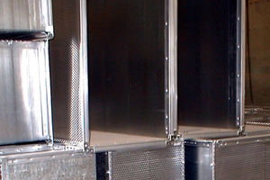 rigid air duct / metal / for ventilation