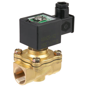 pilot-operated solenoid valve / 2/2-way / normally closed / normally open