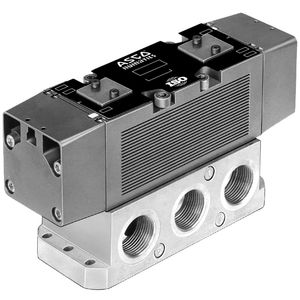 spool pneumatic directional control valve / pneumatically-operated / solenoid-operated / 5/2-way