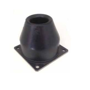 rubber stop / zinc-plated steel / cylindrical / conical