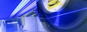 extrusion line saw / circular / for plastics / automatic