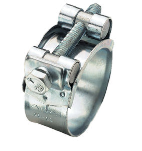 stainless steel hose clamp / worm-drive / heavy-duty