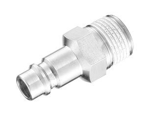 hydraulic adapter / threaded / male hose / steel