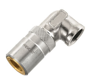 hydraulic fitting / quick / 90° angle / chrome