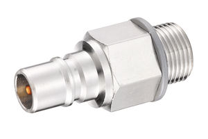 male hose adapter / threaded / stainless steel / brass