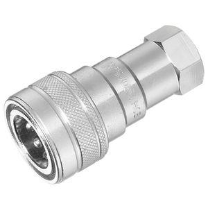 push-to-lock fitting / straight / hydraulic / zinc-plated steel