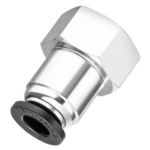 pneumatic fitting / push-in / straight / nickel-plated brass