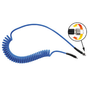 compressed air hose / for pneumatic conveying / polyurethane / spiral