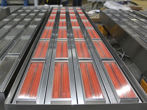 AC infrared heater / for drying / for heating / heat treatment