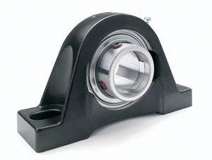 housed bearing unit / self-aligning / solid-block / ball bearing