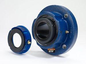 housed bearing unit / solid-block / spherical roller / steel