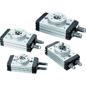 pneumatic cylinder / double-acting / rack-and-pinion