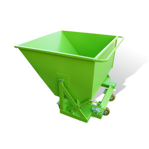 waste self-dumping hopper