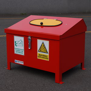 storage crate / metal / for waste / hazardous materials
