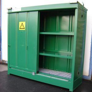 storage cabinet / floor-mounted / double door / shelf