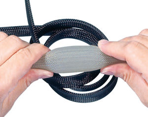 braided sleeve / for cables / for electrical cables / PET