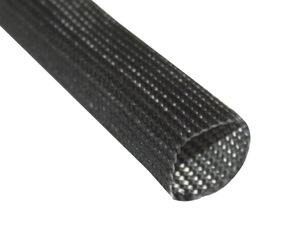 thermal protection sleeve / braided / for cables / fiberglass