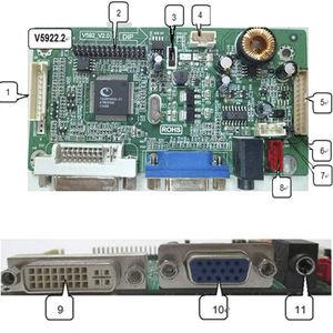 LCD display graphics display controller