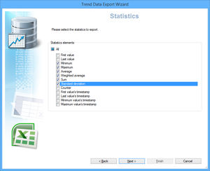 analysis software / reporting / database / data export