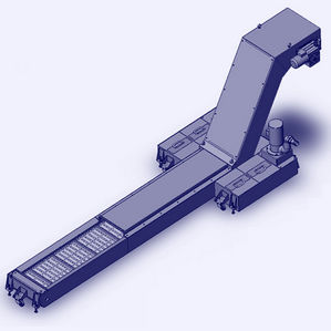 hinged belt conveyor / wire mesh / chain / for the automotive industry