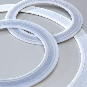 O-ring seal / round / stainless steel / PTFE