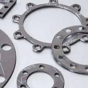 expanded graphite gasket sheet / carbon / stainless steel / for chemical applications
