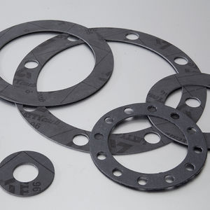 carbon gasket sheet / aramid / for chemical applications / flange