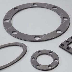expanded graphite gasket sheet / stainless steel / for chemical applications / flange