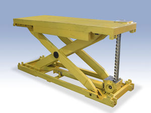 double-scissor lift table / electric / mechanical / stationary
