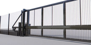 sliding gate / self-supporting / high-security / wear-resistant steel