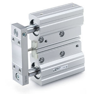 pneumatic cylinder / double-acting / double-rod / precision
