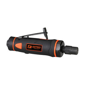 pneumatic portable grinder / straight / rear exhaust