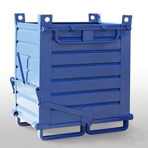 sheet metal crate / handling / industrial waste / stacking