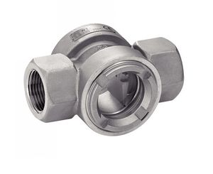 threaded sight glass / stainless steel